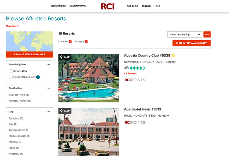 RCI.com carries so much information about the destination and resort, so make sure you read it - especially any urgent information.