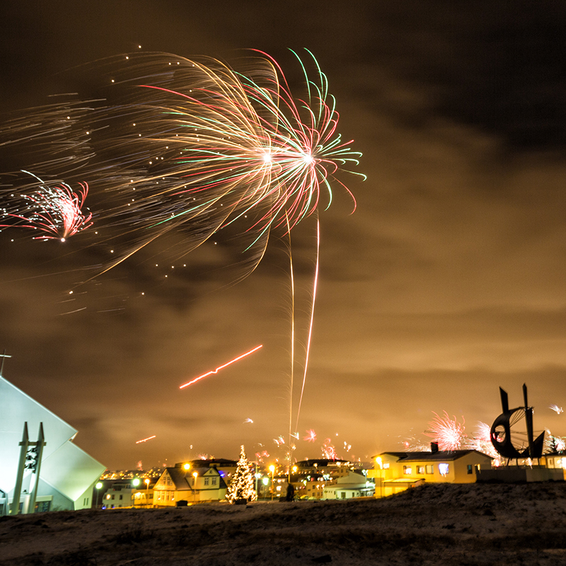 Try Reykjavíc on New Year's Eve for somewhere a bit different. When the fireworks have faded away, make sure you go on a Northern Lights tour to see the sky aflame with a different kind of light.