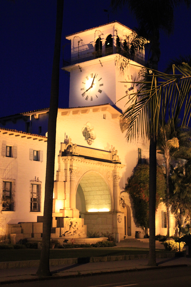 The Santa Barbara County Courthouse is still a fully-functioning court today.
