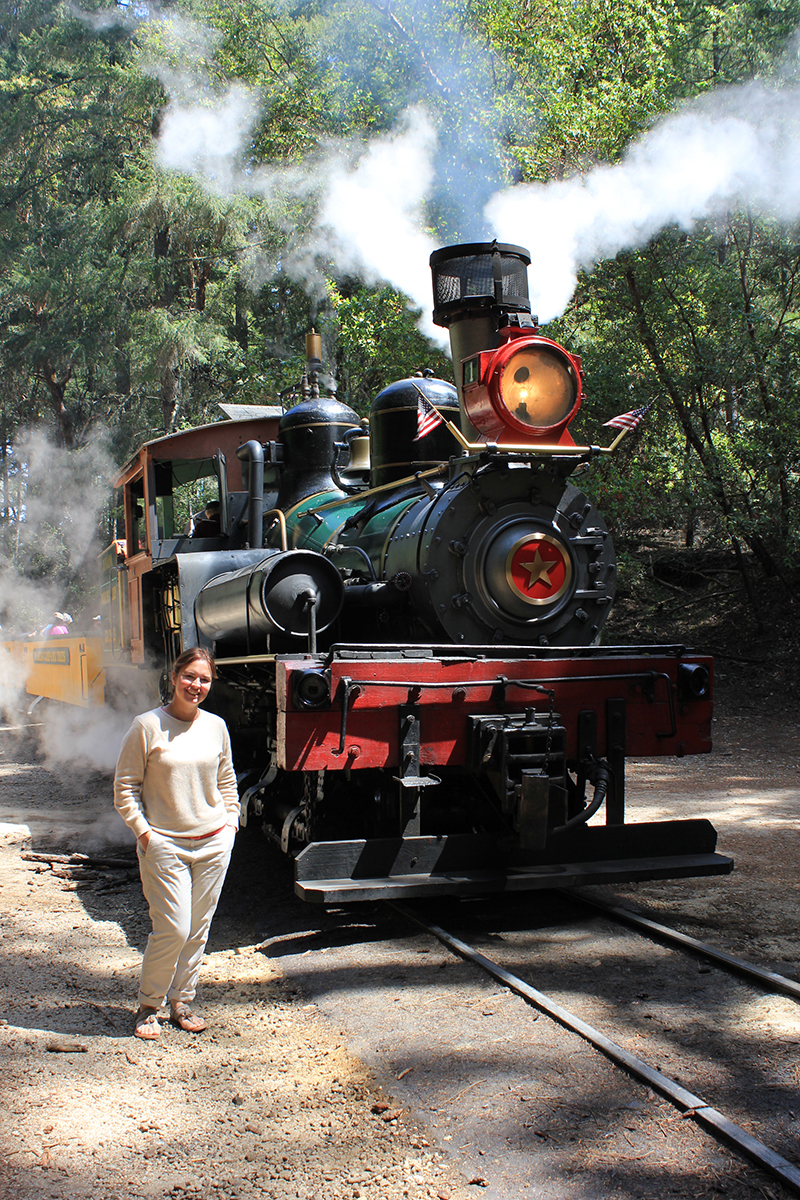 The Roaring Camp & Big Trees Narrow Gauge Railroad makes for a brilliant day out. Steve travelled on Dixie - a 105-year-old steam engine originally used on the Great Smoky Mountains Railroad.