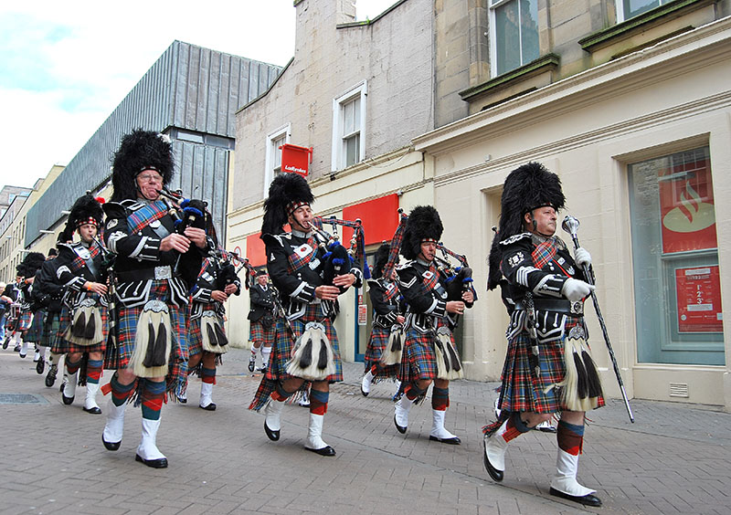 Scottish pipers feature in Christmas celebrations the world over, not just Scotland. Although there can be no better place to see and hear them than marching up Edinburgh's Royal Mile.