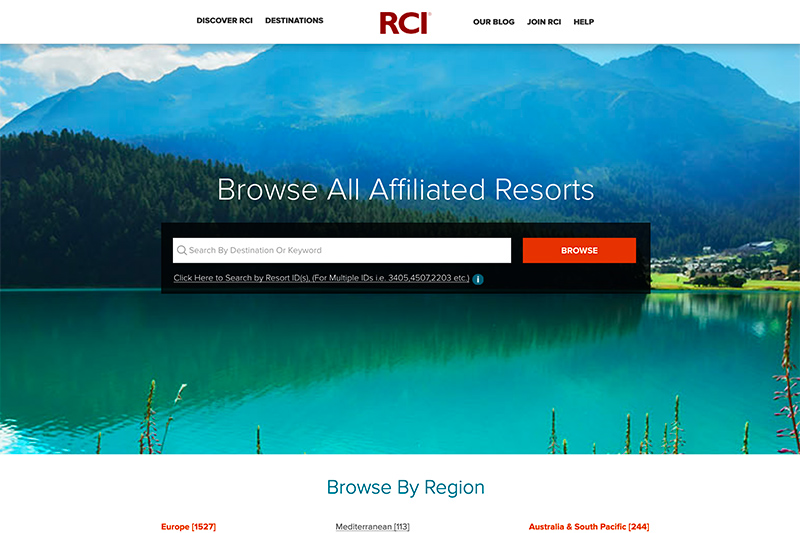 RCI.com is the RCI member website, many parts of which can be accessed, even if you're not yet an RCI member. It's worth a visit to use the Holiday Types Search filter in the online Resort Directory to see just how many great holiday activities you can do across the world using RCI Exchange Holidays. If you are an RCI member, then take a leaf out of Glenys' book and use the resort search facilities in many clever ways to get the holiday you want.