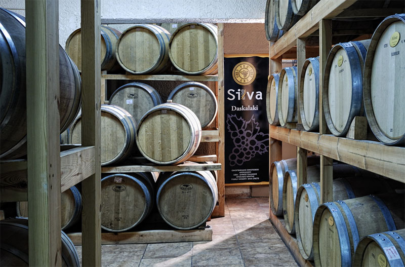 In the picturesque village of Siva, you will find the Silva Daskalaki Winery. Kept in the Daskalakis family since 1920, it has produced a number of award-winning wines.