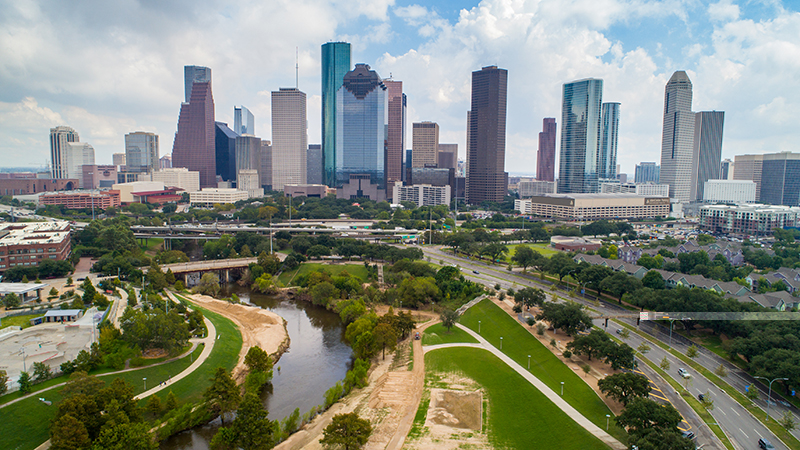 Houston, pictured, Austin and San Antonio are less than three hours apart from each other and yet, together, these three cities form what Donna likes to call the Texas Art Triangle, seeing each city as a vertex of delightful art and culture.
