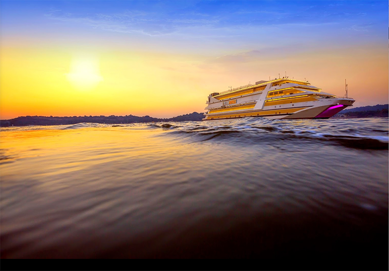 The Deltin Royale luxury floating casino makes for a unique night out after a day lazing on the beautiful beaches of Goa.