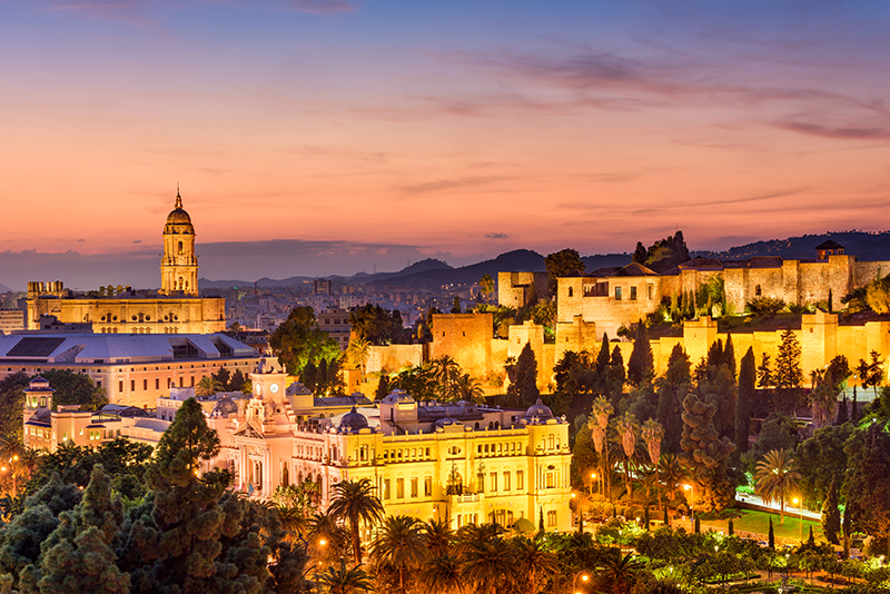 Málaga is beautiful for a romantic holiday. The Spanish coast's golden beaches stretch for miles, and the city's history stretches out just as far, evidenced in the Moorish architecture sprinkled across the city.