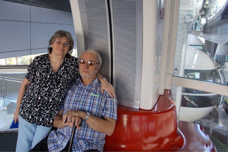 Valerie and Robin Nicholas celebrated Valerie's 70th birthday in Las Vegas with a ride on the High Roller. How exciting!