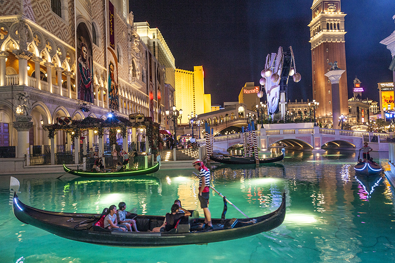 Head for The Venetian - complete with a recreation of Venice's Grand Canal - to splurge on a meal at one of its upmarket eateries.