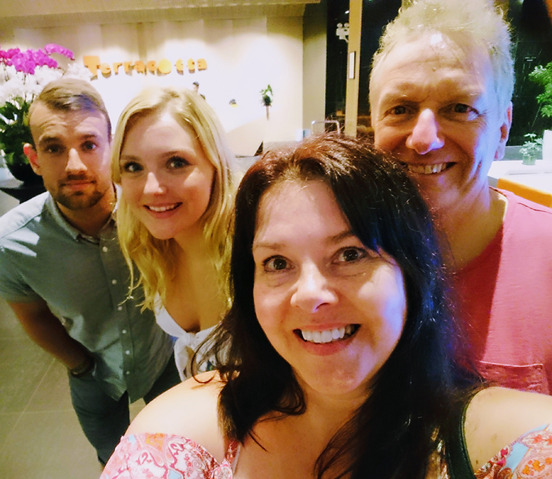 Beverly and Anthony Rhodes, their daughter, Rihannon, and her partner, Adam, enjoyed their exciting holiday in Vietnam.