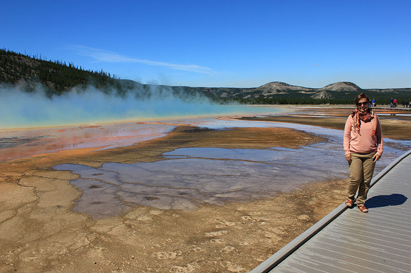 The cauldron-like waters reach temperatures of more than 200 degrees Fahrenheit, so stick to the boardwalks.