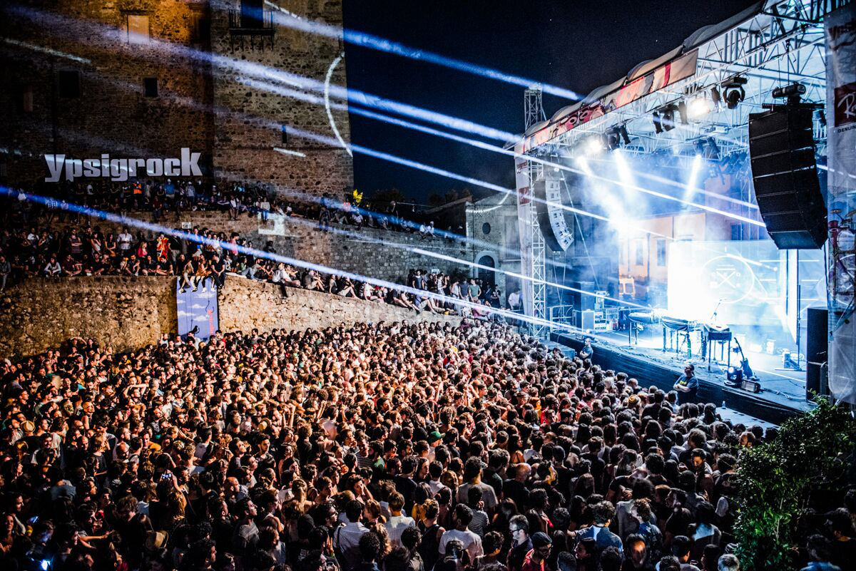 Ypsigrock Festival is situated in the beautiful Sicilian hill-top town of Castelbuono, which is flanked by mountains in one direction and the Mediterranean in the other.