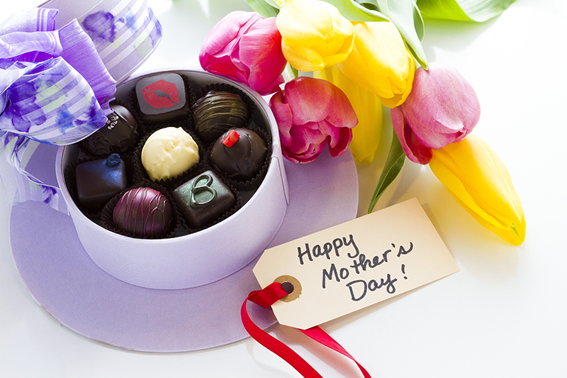 Chocolates are always a good call on Mother's Day as a way of telling your Mum how much you love her.