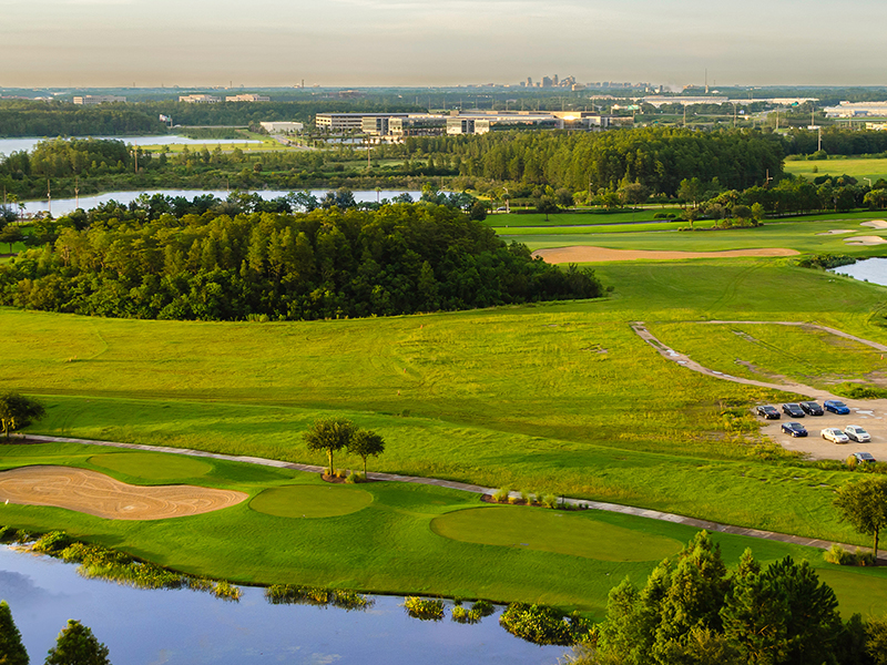 Golfers would most lkely think Portugal and the Algarve, or Scotland, when looking to head off for a golfing break. How many golfers out there have thought of taking their clubs to Florida, pictured. With so many courses close to the theme parks of Orlando, Florida is a golfing holiday the whole family can enjoy.