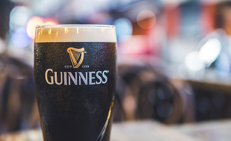 Literally millions of pints of Ireland's national drink will be consumed across the world on St Patrick's Day. Some pubs in the US are said to serve green Guinness on the day, but you will find it comes out 'ruby', as the Guinness brewery describe its colour, in Ireland.