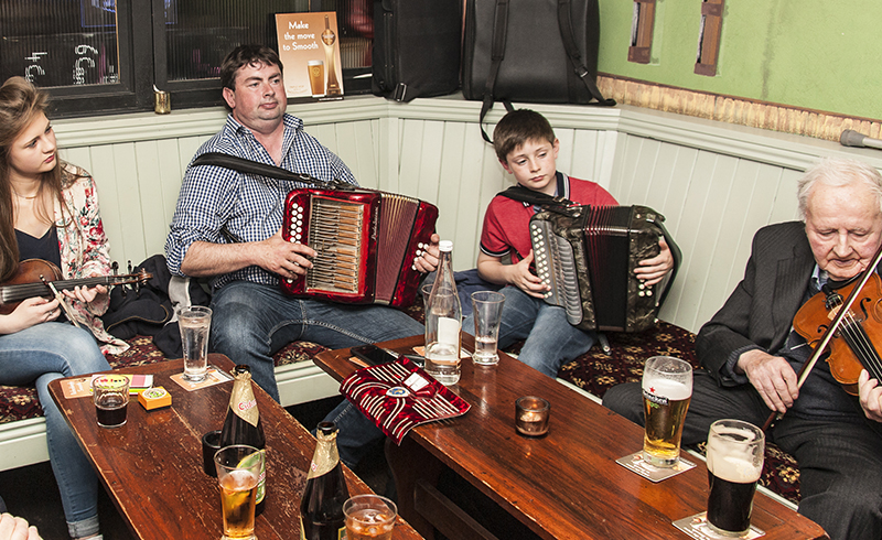 Music is in the Gaelic DNA. In cities, towns and quaint villages throughout Ireland, from lunchtime through to closing, the pubs and bars become a stage for professional musicians and talented locals alike. Unusually, modern instruments mix with the more traditional ones, such as the button accordian, in a lively and vibrant celebration of the Irish culture and spirit.