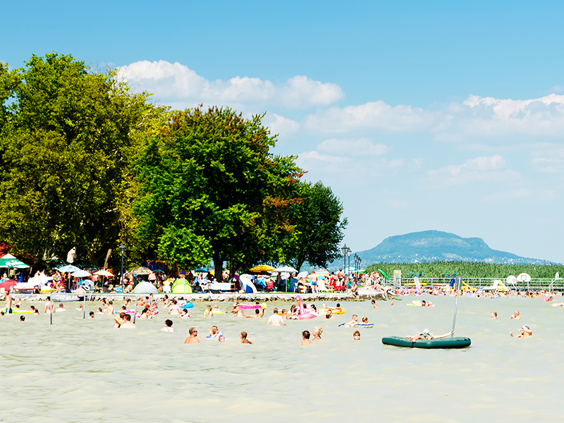 Lake Balaton in Hungary not only gives you lots of traditional villages and sunny vineyards to explore, but also offers a myriad of beach and boating fun as it has 197km of sandy shoreline.