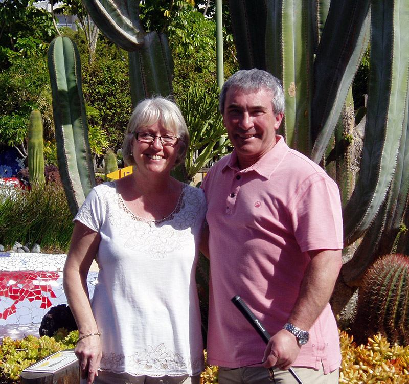 Gill and Len have been holidaying in Tenerife for 17 years and they love making the most of it by getting at least one game of golf in while they're there.