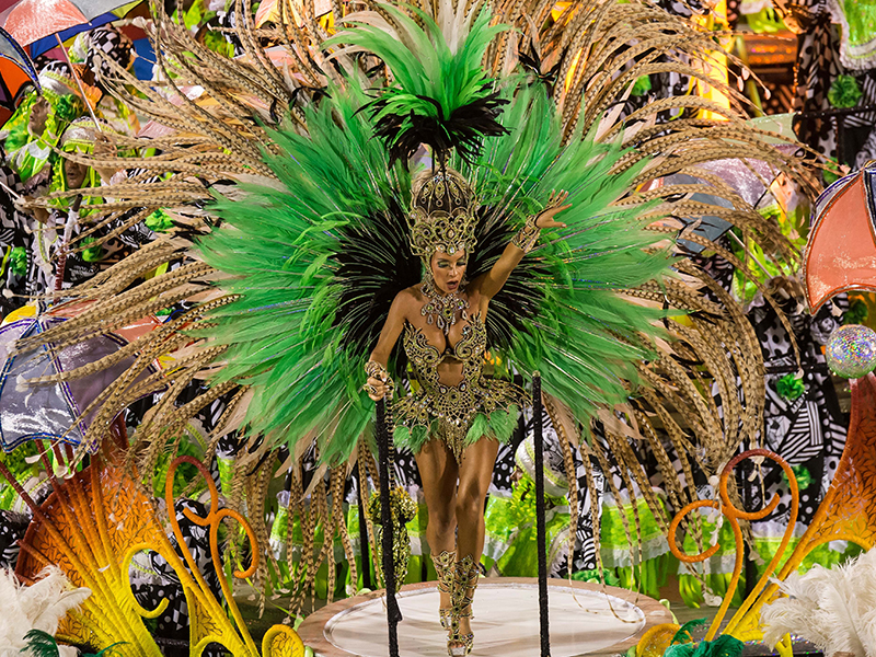 Arguably the most famous carnival in the world, Rio Carnival is one of the biggest parties on the planet. Filled with colour, music and some of the best dancers in Brazil, it's unmissable.