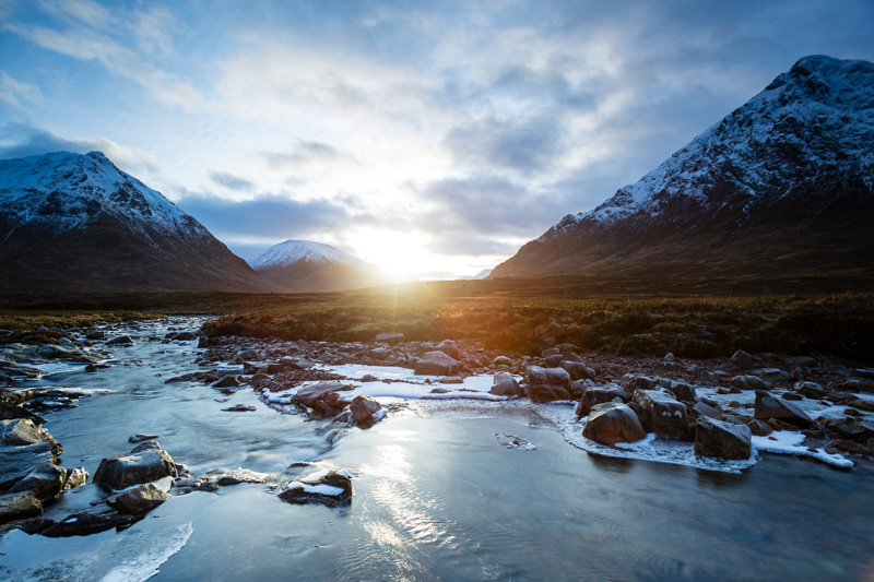 Winter walks in Scotland's lowlands and highlands is a joy. Some treks may be risky withuot a qualified guide, others a great deal easier, but whether you take the high road or the low road, you can be assured the scenery will be majestic and memorable.
