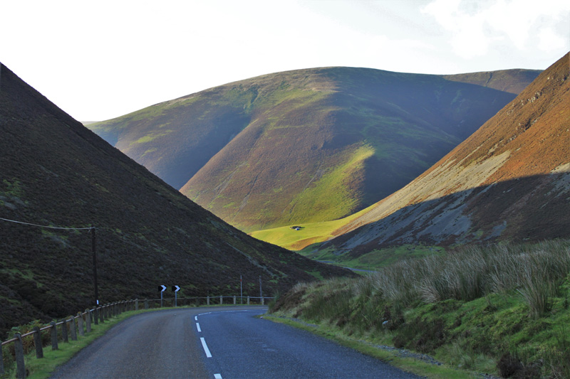 Meenock Pass, on the road to Sanquhar, was one of several highlights in Donna's Scottish road trip through the Lowlands of Dumfries and Galloway.