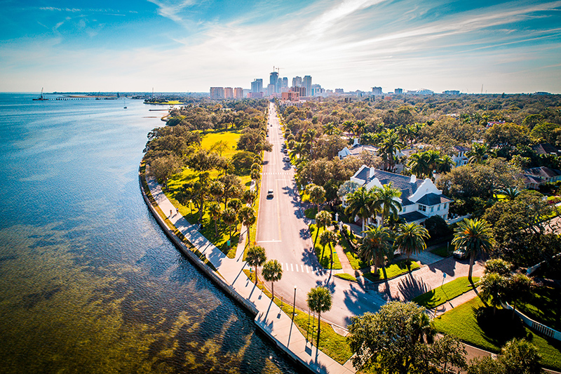 Away from the thrill of the theme parks, St Petersburg in Florida is perfect for families, having beaches, restaurants, museums and many more activities to entertain.