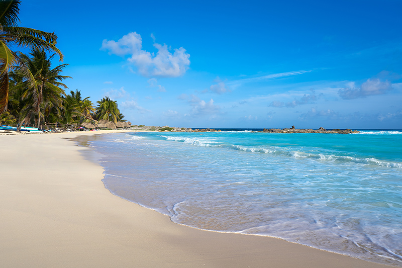 Cozumel has some wonderful white sand beaches, leading to inviting crystal clear waters.