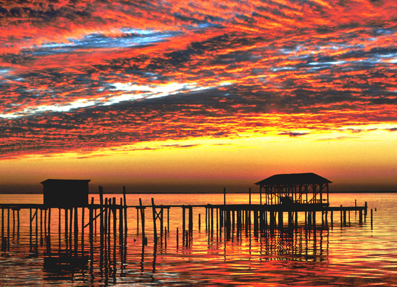 With sunsets like this one in Mobile Bay, a holiday to Alabama should be on your list.