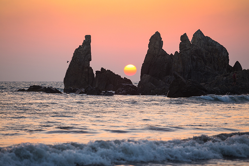 Goan sunsets are among the finest in the world, such as this one on Arambol Beach.