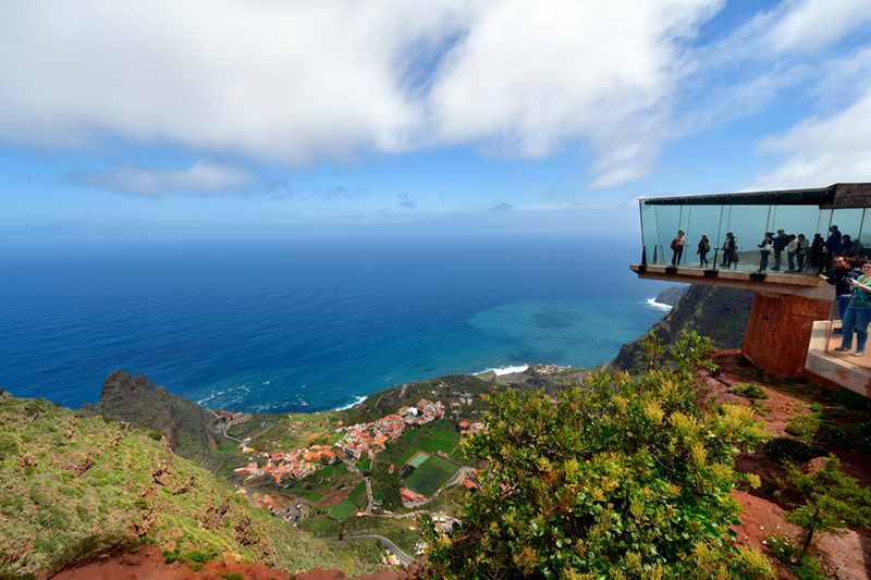 From the viewing platform the town of Agulo can be admired. Known as the Green Balcony, thanks to the surounding Meriga Forest, it makes for a spectacular view.