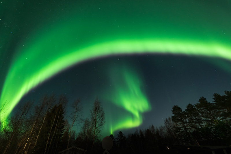 The Northern Lights are a phenomenon that many would like to see, but they are very unpredictable. The closer to the Arctic Circle you are, the best chance you have of seeing them.