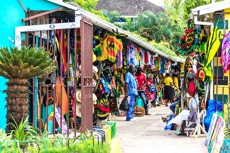 Jamaica is an island that, literally, bursts with colour, from its cocktails to its array of rainbow clothing lining its lively street markets.
