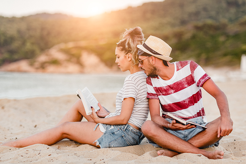 Whatever type of book you enjoy, try something new by sharing holiday reads with your travel partner. You might find your new favourite book!