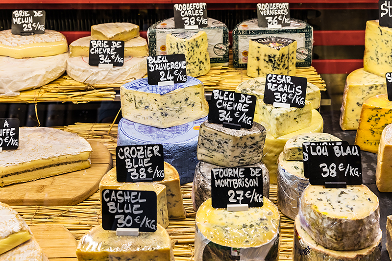 You can't visit Paris without sampling a selection of French creamy cheeses from a local fromagerie or bistro.