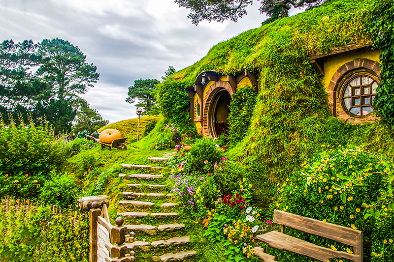 Experience the magic of a guided Hobbiton movie set tour! Immerse yourself in the sights, smells, sounds and tastes of the Shire, as featured in the Lord of the Rings and Hobbit trilogies.