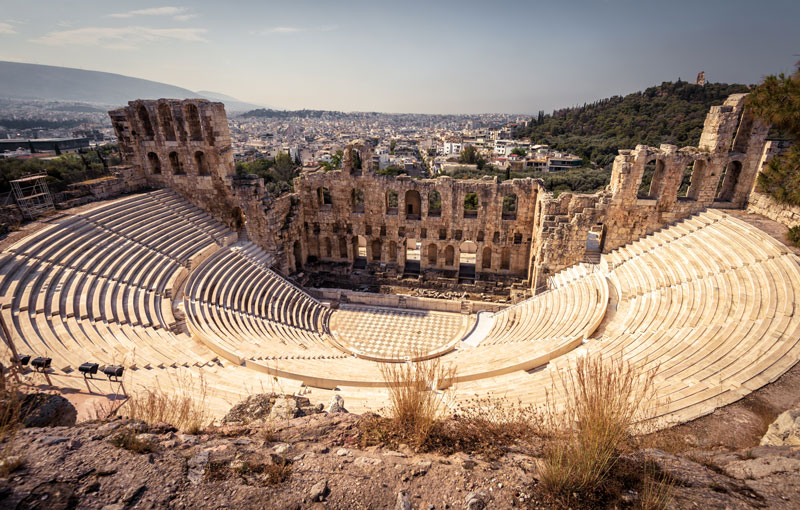 The Odeon of Herodes Atticus Theatre is a splendid example of how the ancient Greeks spent a night out at the theatre. London's West End has nothing to match this theatrical magnificence.
