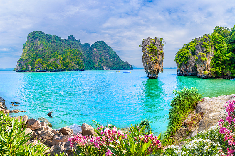 James Bond Island is a famous landmark in Phang Nga Bay. It first found its way onto the international tourist map through its starring role in the James Bond film, The Man With The Golden Gun.