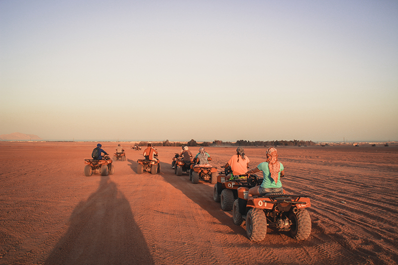 If you would like to explore the desert, then quad biking is for you. Be prepared for an exhilarating experience and to be covered in sand!