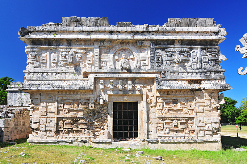 Visit Las Monjas, the Nunnery, which is the biggest structure in Chichén Itzá. It is thought to have been a palace for Mayan royalty, and is built resembling a convent - hence its name.
