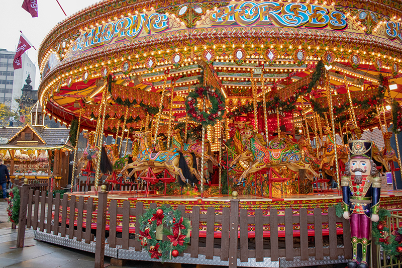 Take a ride on the merry-go-round and get into the spirit of Christmas by enjoying this decadent Victorian staple in all its festive wonder; it's sure to be fun for all the family.
