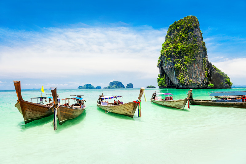 Thailand is a destination that caters for the young, singles, couples, family groups and the older generation. The beaches in Phuket are best on its western shore, while Phuket City, the capital is a shopping and dinig mecca, and Patong's nightlife is a shining feature with its many bars and nightclubs.