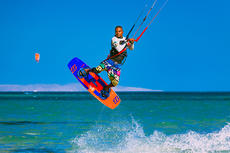 Kitesurfing is one of the many watersports you can enjoy while on holiday in Egypt.
