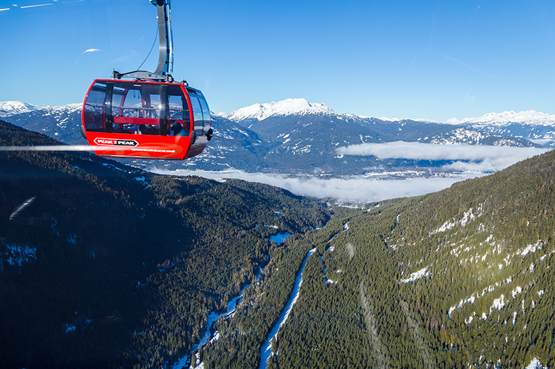 Soak up the views by taking a trip on the Peak 2 Peak Gondola. The views are magnificent during this cable car thrill ride!.