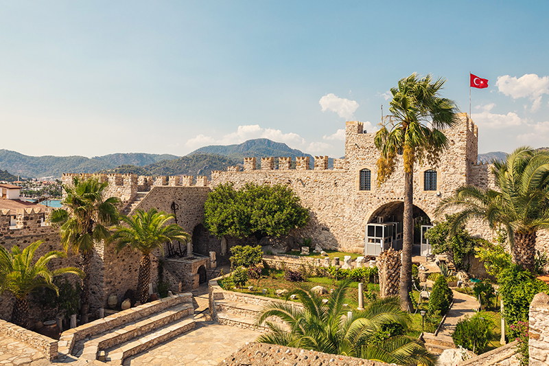 The castle at Marmaris dates back to 1522 and, apart from the history within its walls, it also offers fabulous panoramic views over the town and out to sea.