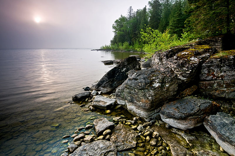 Walk on the wild side and explore the wilderness landscape on the Hotz Trail in Newport State Park, north of Sister Bay.