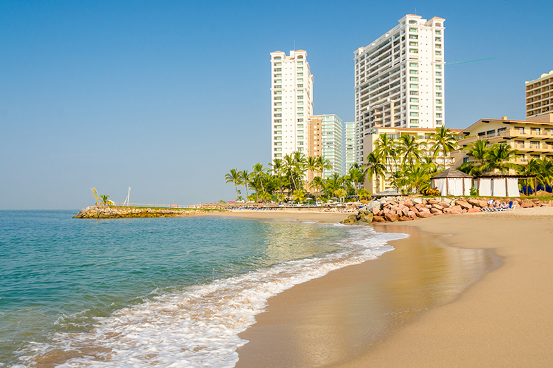 Playa Camarones is on the Pacific Coast of Mexico in Puerto Vallarta. This location is famous for magnificent sunsets, so enjoy a stroll along the beautiful white-sand beach, taking dinner in one of the beachfront restaurants for a view to die for.