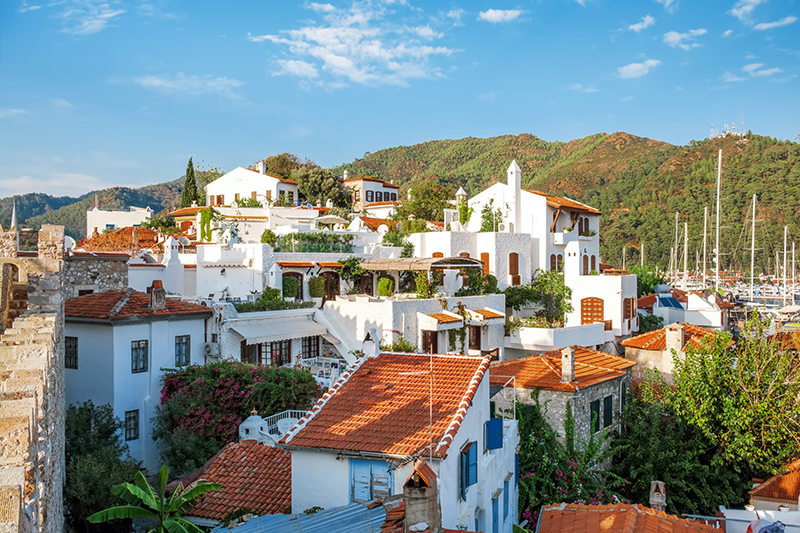 The roof tops of Marmaris Old Town are a sunny and warm landscape which characterise beautiful Mediterranean towns such as this one. Follow the winding streets down to pretty squares and markets.
