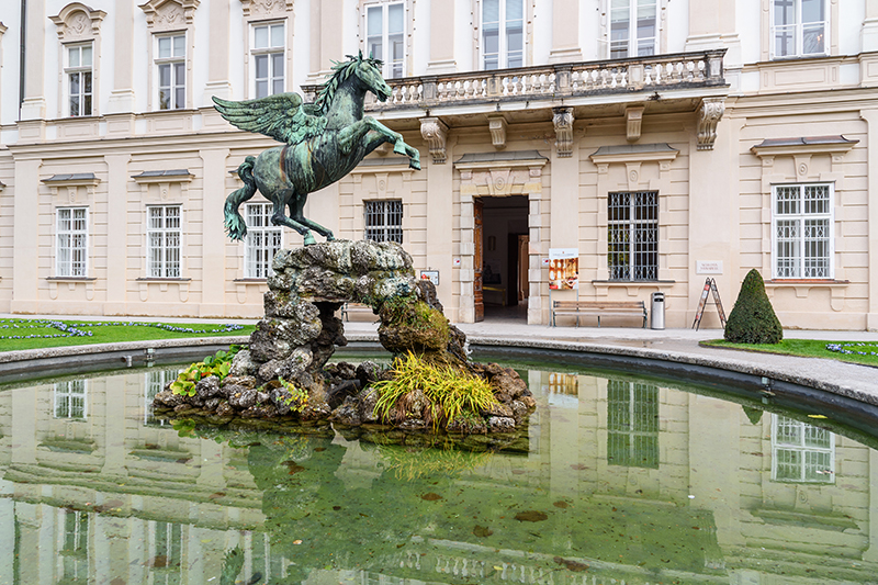 Pegasus Fountain - where Maria dances with the children in The Sound of Music.