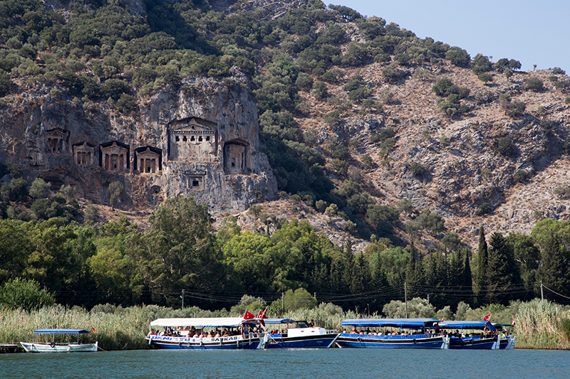 The Lycian Rock Tombs are said to be the last resting place of the Kings of Kaunos, and so are imbued with a legendary mystery. They are certainly a spectacular feat of ancient building and well worth a visit.