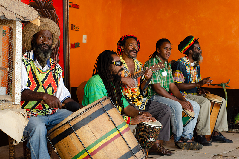A tribute band welcomes tourists to the home of Bob Marley, where his former home is now the Kingston Museum where visitors are able to view the home, pretty much as it was when the reggae legend lived there with his wife, Rita.