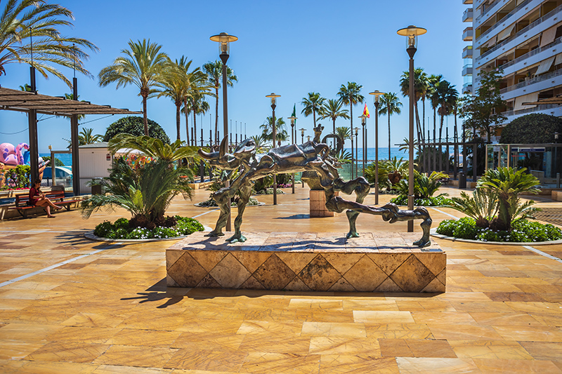 Take a walk along the Avenida del Mar and check out all the bronze sculptures by Salvador Dali, which are free to view along this promenade.
